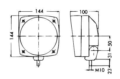 MONARK Riflettore H4 / Fari Principali per Trattore D