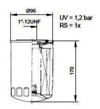 Monark huile filter for VOLVO PENTA D/TD/TAMD/AQD/MD