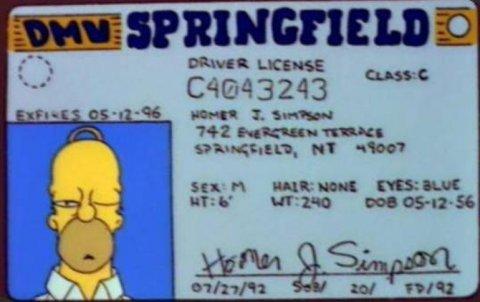 La licencia de conducir de Homero Simpson