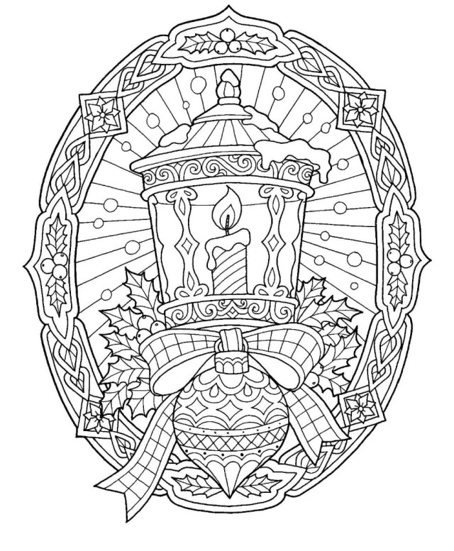30 Free Christmas Coloring Pages / Drawings