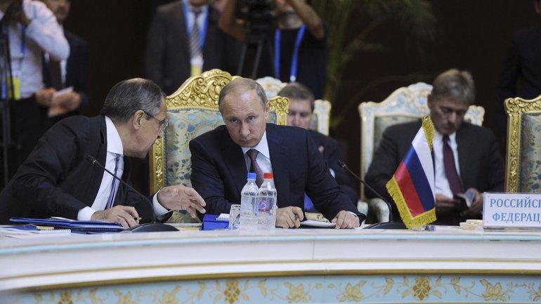 Vladirmir Putin durante la OTSCE en Dusambé