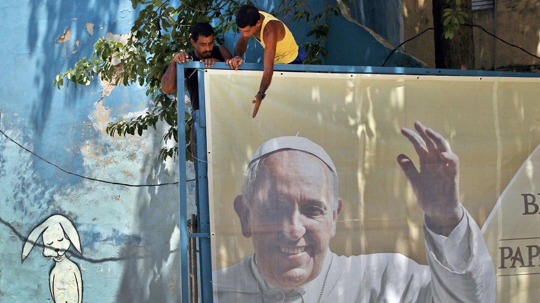 Imagen delpapaFrancisco en la Plaza de la Revolución de La Habana, donde el próximo 20 de septiembre oficiará una misa durante su visita pastoral aCuba