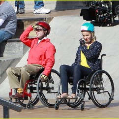 Wheelchair Glee Recliner Chair Covers For Sale Full Sized Photo Of Dianna Agron Kevin Mchale Wheelchairs