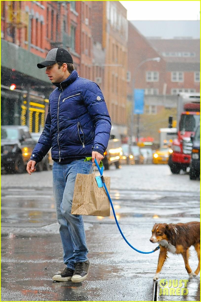 Sebastian Stan Gets Soaking Wet in the Big Apple Photo 3268242  Celebrity Pets Sebastian Stan