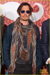 Johnny Depp Rocks Colorful Scarf at 'Mordecai' Berlin