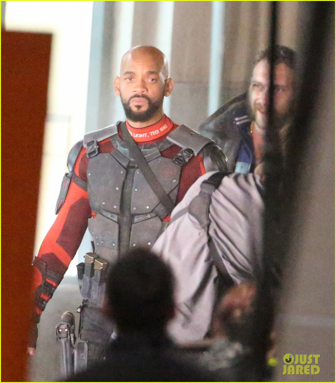 suicide squad cast seen in costume on set 08