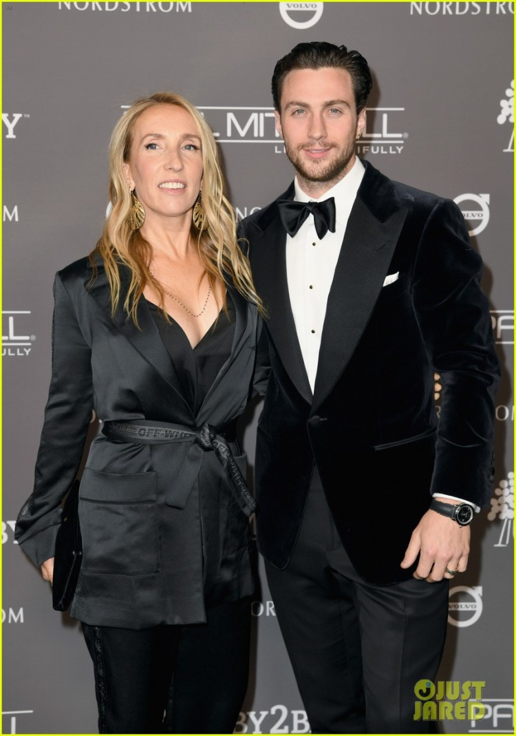 Aaron Taylor-Johnson & Wife Sam Couple Up for Baby2Baby ...