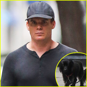 Michael C. Hall Walks His Cute Pet Pooch in the West Village