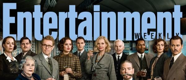 De cast van Murder on the Orient Express door Entertainment Weekly