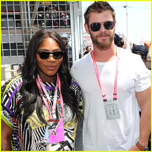 Serena Williams Joins Chris Hemsworth at Formula 1 World