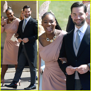 Serena Williams Holds On Close To Alexis Ohanian Arriving