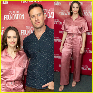 Felicity Jones & Armie Hammer Promote 'On The Basis of Sex' in L.A.
