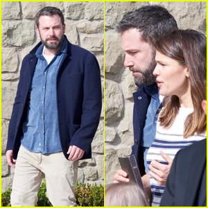 Ben Affleck Meets Up With Ex Jennifer Garner at Church
