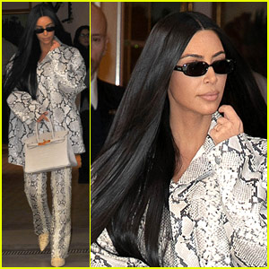 Kim Kardashian Arrives in Paris for Meeting at Hermes