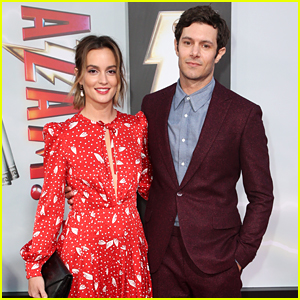 Leighton Meester Supports Husband Adam Brody at 'Shazam!' Movie Premiere!