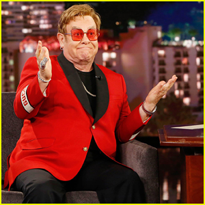 Elton John Tells 'Kimmel' He Let Stevie Wonder Drive His Snowmobile!