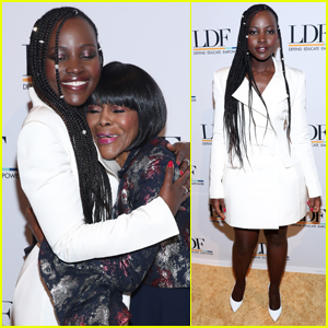 Lupita Nyong'o & Cicely Tyson Share an Embrace at National Equal Justice Awards Dinner 2019