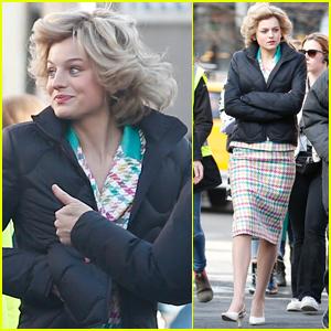 Emma Corrin Transforms into Princess Diana While Filming ...