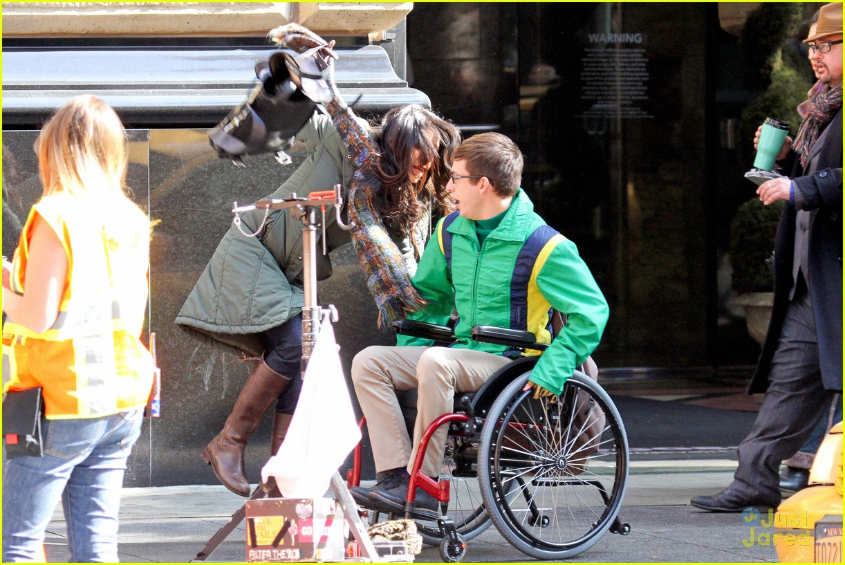 wheelchair glee tempur pedic office chair tp8000 reviews kevin mchale run in on 39glee 39 set photo
