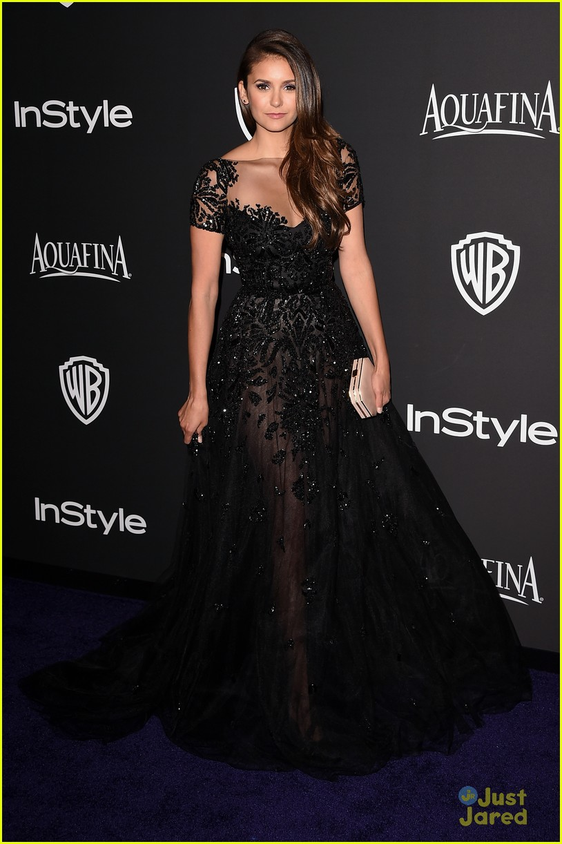 nina dobrev golden globes 2015 party 03