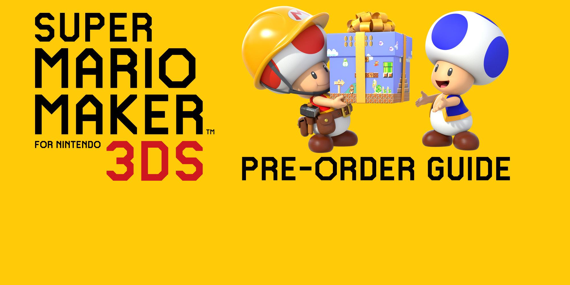 Super Mario Maker For Nintendo 3DS Pre Order Item Guide