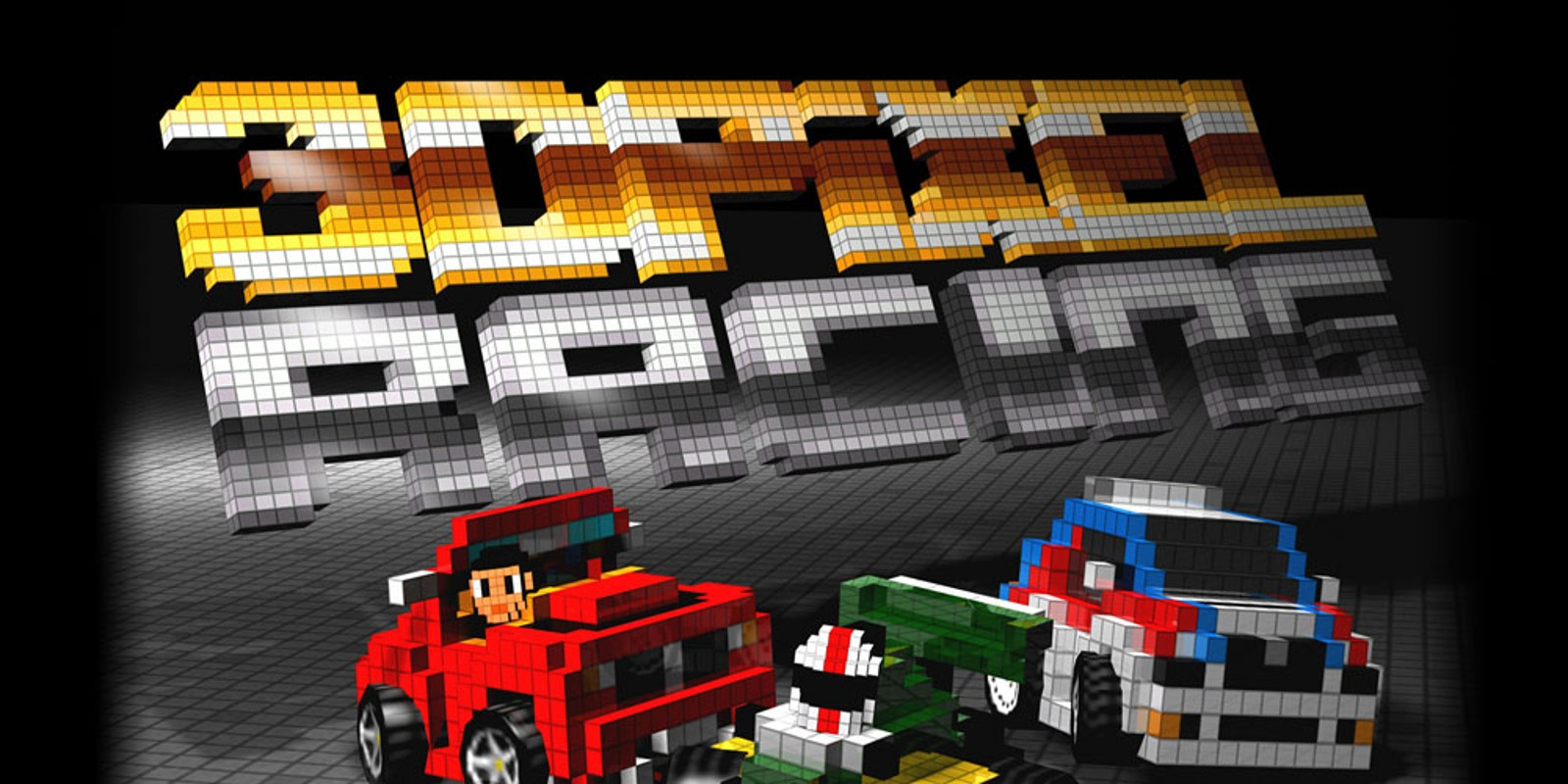 Car Chases Wallpaper 3d Pixel Racing Wiiware Games Nintendo