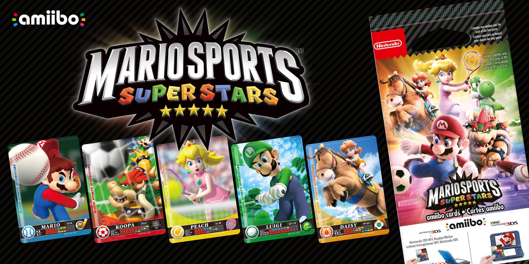 Mario Sports Superstars Amiibo Cards Mario Sports