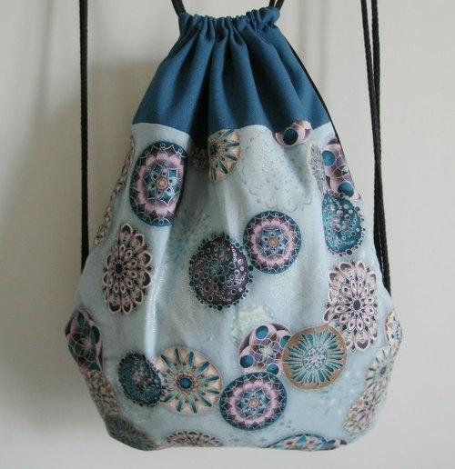 ~米+熊~ 復古 束口袋背包 (簡單普普風 款 ) - 米+熊 手工 雜貨鋪 | Pinkoi