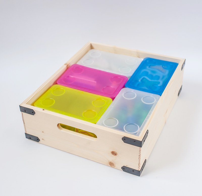 【木製中工具箱-低】手工 原木木箱 工業風 收納箱 - 設計館 mifo 銘峰木器工藝 - 收納用品   Pinkoi