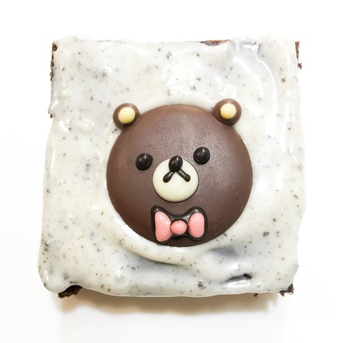 【黑熊先生巧克力布朗尼】小動物布朗尼-棕熊(升級圖案加購) - mr.BROWNIE黑熊先生巧克力布朗尼 | Pinkoi