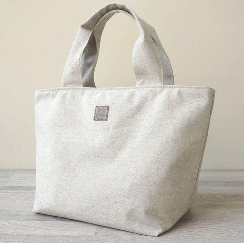 『和風大肚量帆布包』日系毛呢帆布-清水模灰 - 設計師 琥珀帆布   Pinkoi
