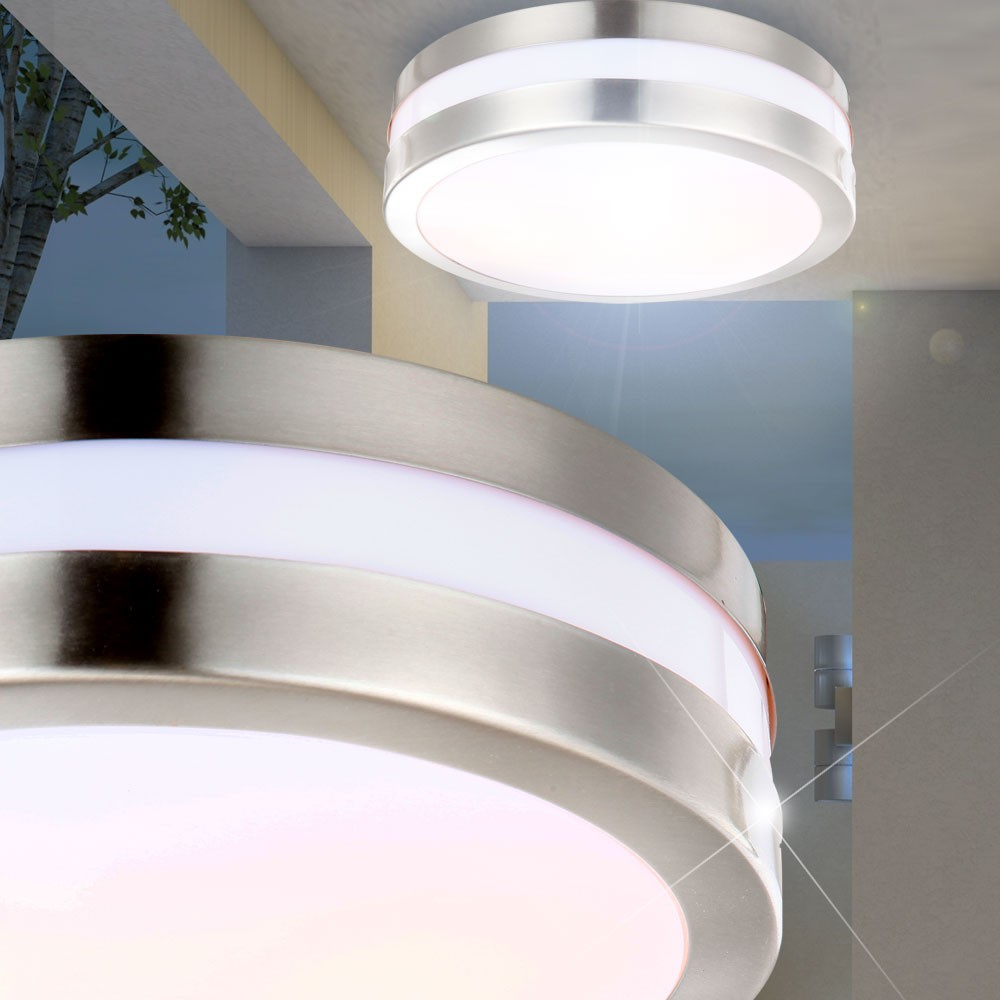rgb led outdoor light ceiling lamp stainless steel remote control