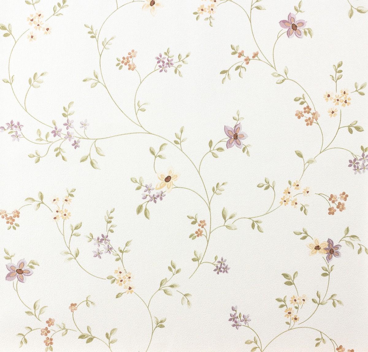 Tapete Pastel AS 937701 Blumenranke violett grn wei
