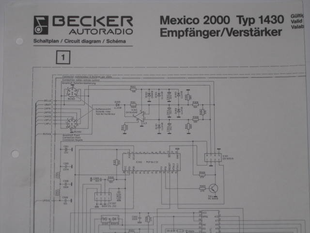 circuit diagram mexico 2000 Type 1430 receiver/amplifier