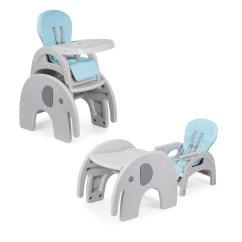 Elephant High Chair Garden Cushions Argos Baby Vivo 2 In 1 Child S Highchair Combo Plastic With Table Ma Trading