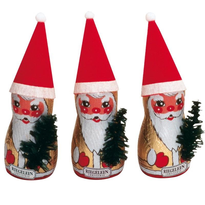 Riegelein Schokoladen Weihnachtsmann mit Mtze 36 Stck