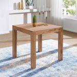 Finebuy Esstisch Massivholz Akazie 80 X 80 X 76 Cm Esszimmer Tisch Design Kuchentisch Modern Landhaus