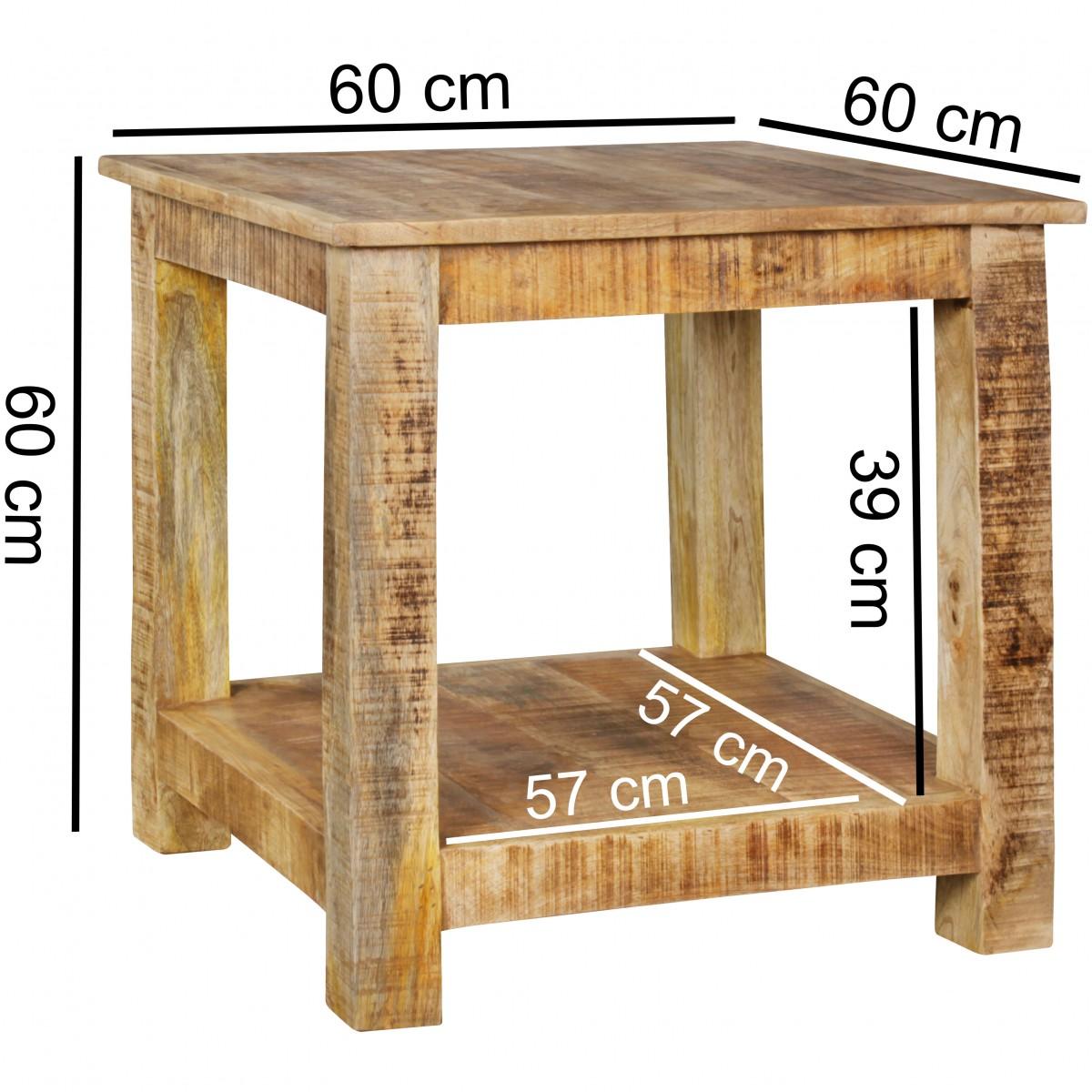 Couchtisch Holz 60 X 60 Beistelltisch Massiv Holz Akazie 60 X 60