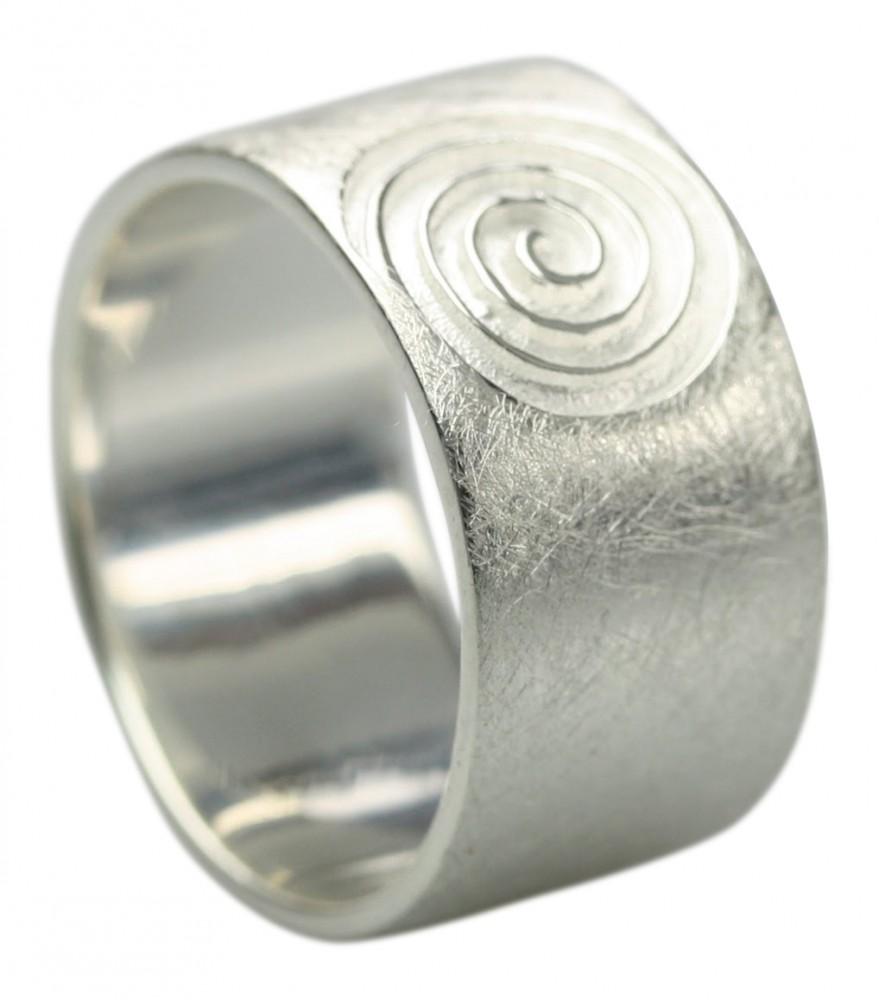 Gebrsteter 925er Silberring im Spiraldesign Silberringe