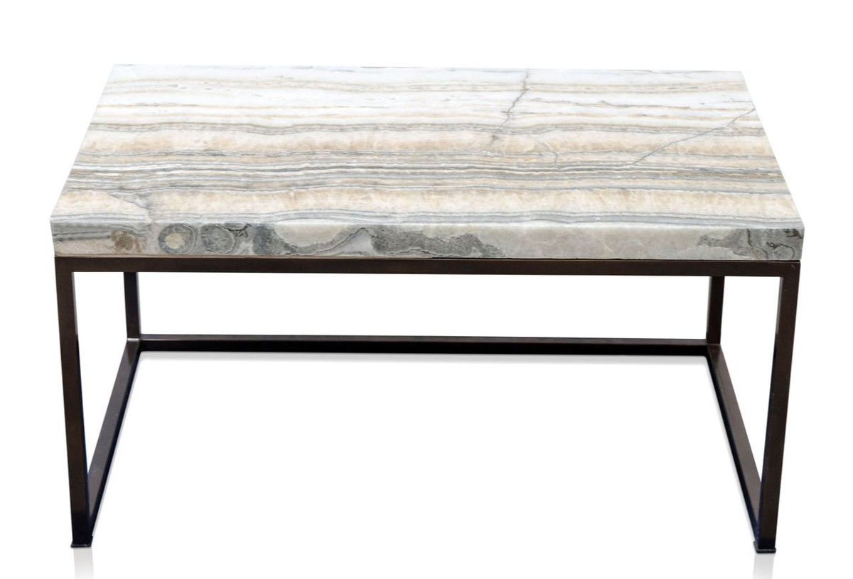 casa padrino luxury coffee table with natural stone table top 80 x 50 x h 40 cm luxury coffee table