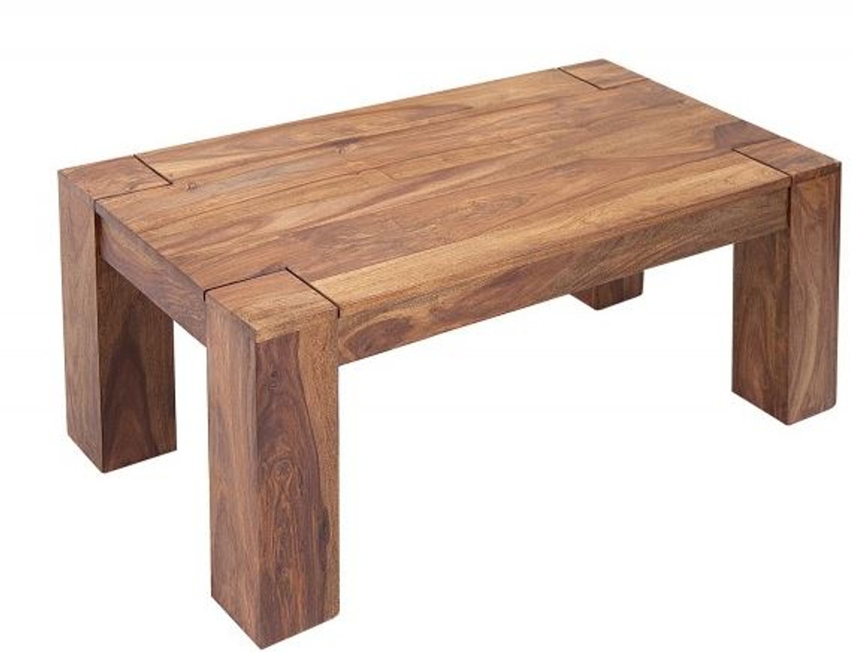 casa padrino table basse design en bois massif nature 100 x h 40 cm bois massif salon table de salon