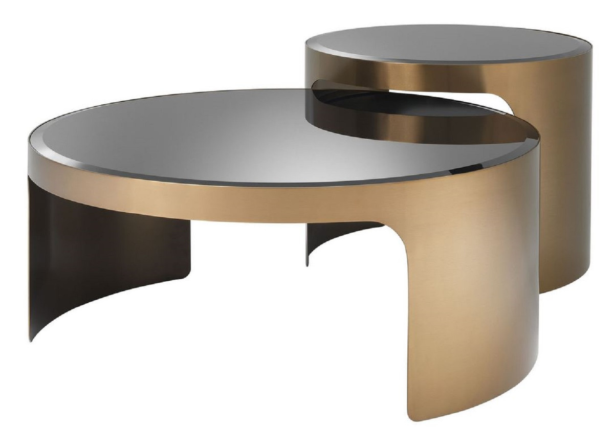 casa padrino designer coffee table set copper black luxury stainless steel coffee tables with glass tops luxury living room furniture