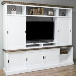 Casa Padrino Country Style Living Room Television Cabinet With 6 Sliding Doors White Brown 254 X 46 X H 210 Cm Solid Wood Tv Cabinet Living Room Cabinet Country Style Living Room Furniture