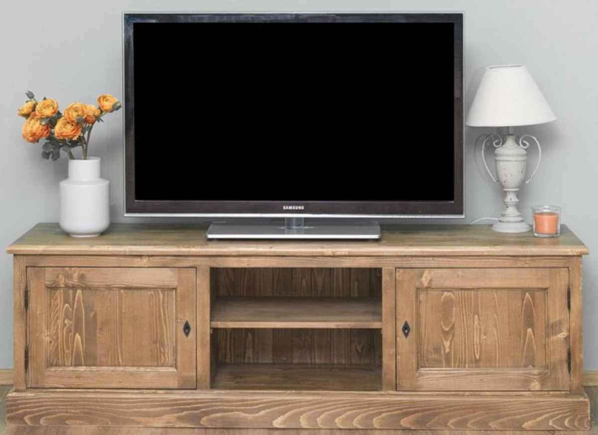 casa padrino country style sideboard with 2 doors brown 180 x 46 x h 56 cm solid wood tv cabinet living room cabinet country style furniture