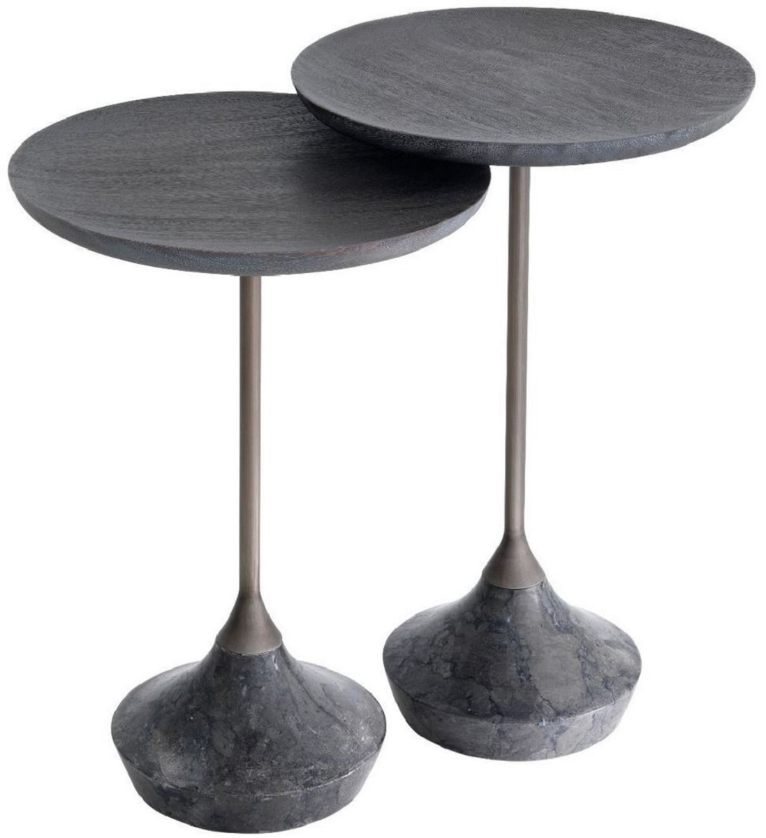 casa padrino luxury side table set gray bronze o 35 cm round marble tables luxury living room furniture