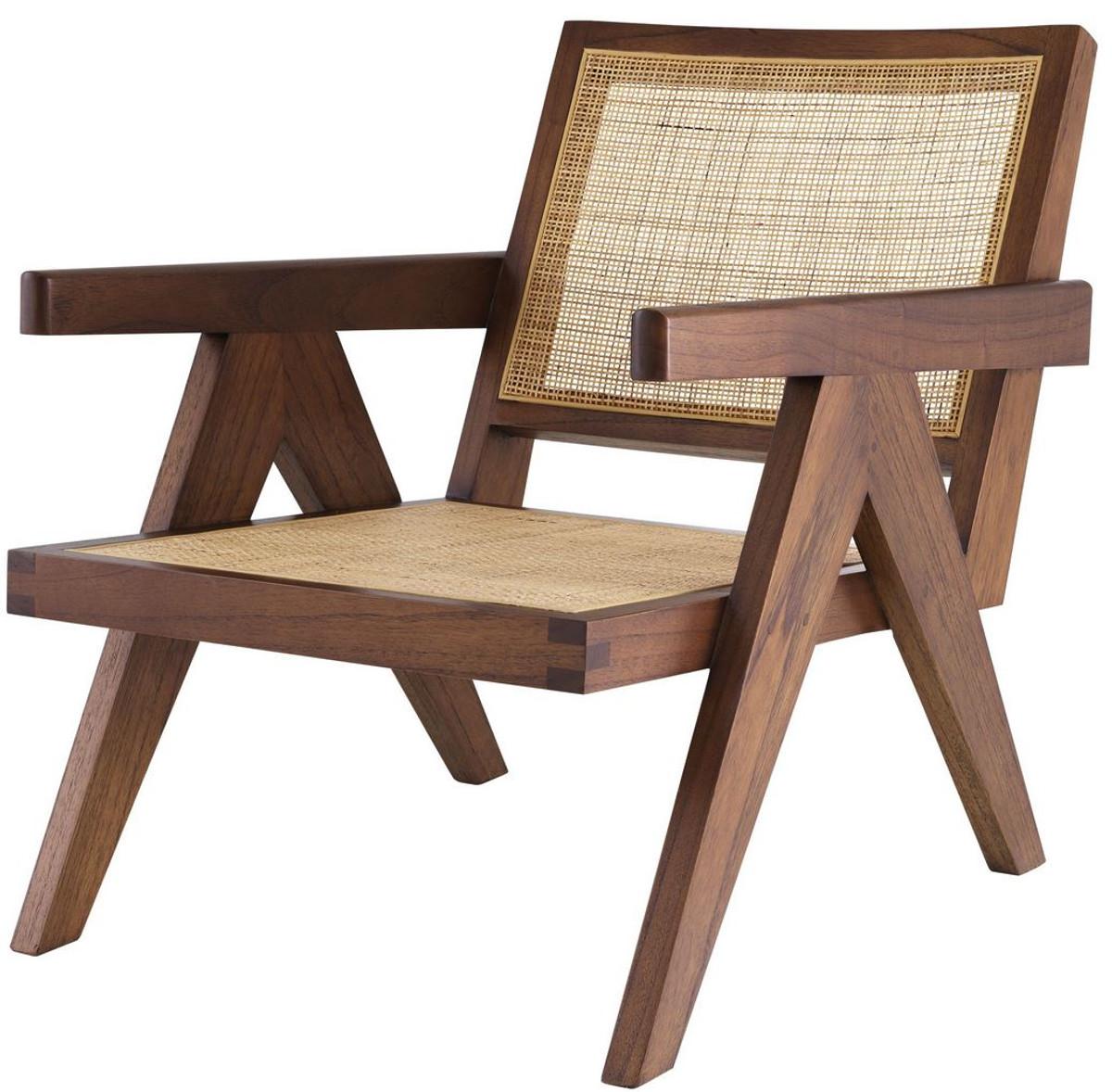 Le sedie design sono quelle che rispecchiano appieno. Casa Padrino Sedia Di Design Marrone Naturale 58 X 82 X A 70 Cm Sedia In Legno Massello Con Braccioli E Rattan Intrecciato A Mano Mobili Per Soggiorno Di Lusso Casa Padrino De