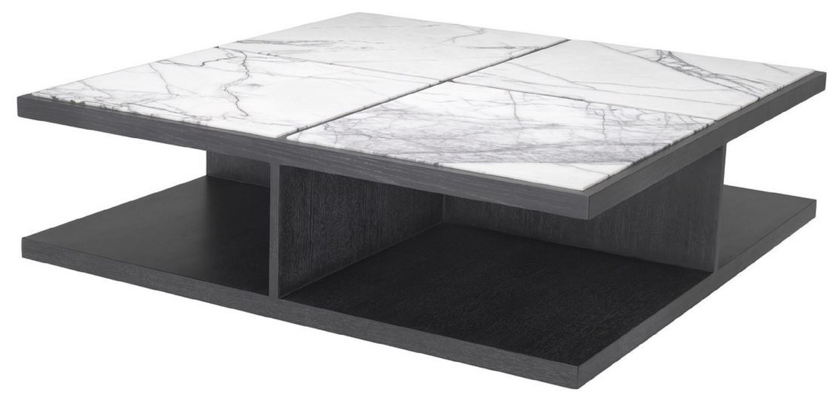 casa padrino luxury coffee table white purple anthracite gray 120 x 120 x h 35 cm modern solid wood living room table with marble tops luxury
