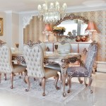 Casa Padrino Luxury Baroque Dining Room Set 1 Dining Table With Glass Top 6 Dining Room Chairs Dining Room Furniture In Baroque Style Noble Magnificent