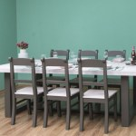 Casa Padrino Country Style Dining Room Furniture Set Light Gray Gray 1 Dining Table 6 Dining Chairs Solid Wood Dining Room Furniture Country Style Furniture