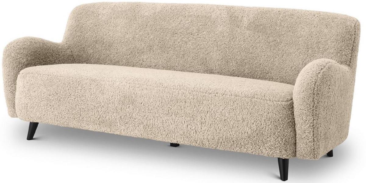casa padrino canape de salon de luxe sable noir 200 x 70 x h 75 cm meubles de salon meubles de luxe